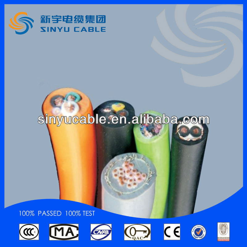 2015 Sinyu Silicone rubber insulated high voltage mount wire and cable