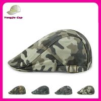 Cheap Newsboy Duckbill Cabbie Cap Camo Color IVY Cap