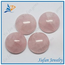 High quality pink round shape crystal stone