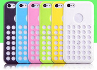 Colorful heavy duty hybrid rugged soft case skin cover for iphone 5c