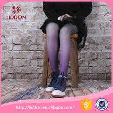 Moda para niños costura del color del gradiente leggings medias para las muchachas