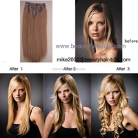 Full Head New Online Wholesale Alibaba High Quality Hair Extension Most Fashion Natural Color Kinky Curly Clip in Hair Extension