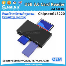 USB 3.0 Compact Flash All-in-1 Multi Memory Card Reader Adapter/ GL3220