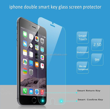 2015 new product 2.5D edge 0.3mm thickness mobile phone accessory smart glass film tempered glass screen protector for iphone 6