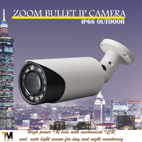Taiwan manufacturer Support ONVIF ProfileS 18x optical zoom Bullet IP Camera