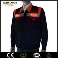free samples safety jacket brand name clothing with led