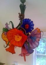 Hanging Flower Pendant Lamp Glass Chandelier Lighting