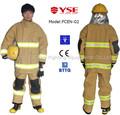De 4 capas de lucha contra incendios para mujer bombero ropa