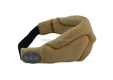 2015 new style travel/airline /hotel cotton eyeshade ,bluetooth function