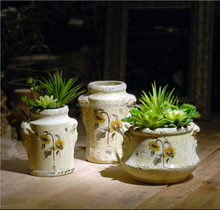 high quality ceramic flower pot painting designs