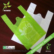 large renewable supermarket cornstarch tote bags