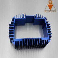 customized blue color anodized aluminum heat sink
