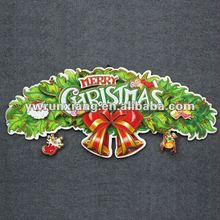 3D glitter paper wholesale artificial christmas wreaths decorations