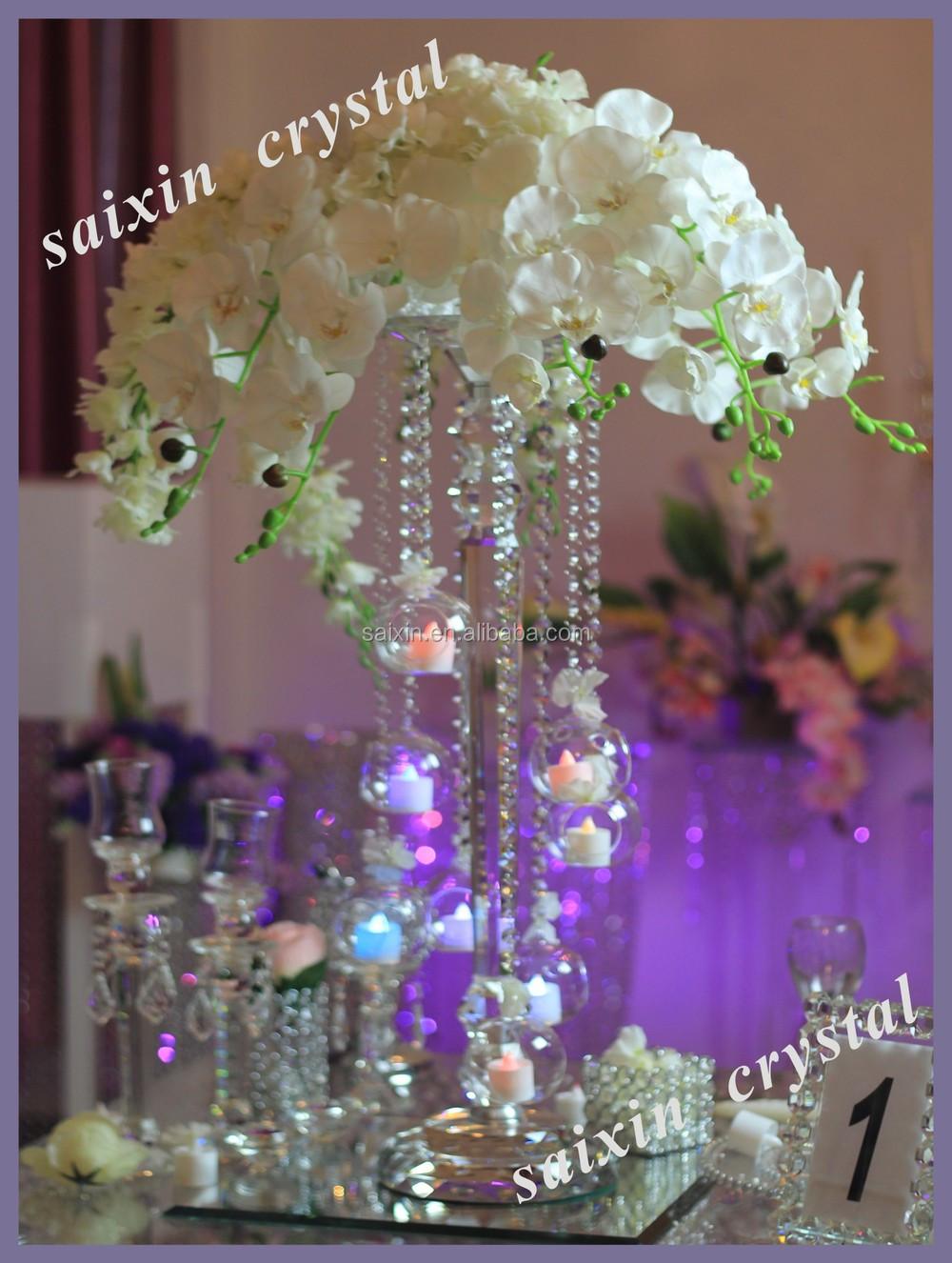 New Design Wedding Crystal Centerpiece Hanging Votive Candle Holder ZT 203 View