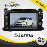 car gps navigation for toyota sienna dvd player bulit in bluetooth with radio