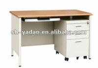 Modern executive office desk with stainless steel/iron leg
