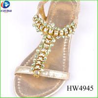 yiwu wholesale HW4945 ladies fashion shoes accessories sandal ornament