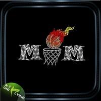 Basketball mom hotfix iron on transfers wholesale basketball