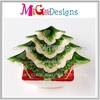 wall decorations OEM ceramic christmas tree dish