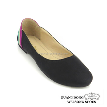 cloth material colorful women hot sale punk slip on lady flat casual loafer shoes