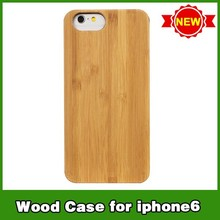 Retro hot selling pc + wood sticker case covers for iphone 6