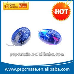 2012 Latest Fashion Model! Wired 3D Light Up Mouse In Blue Color