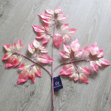 2015 Brand New Come Style pink purple artificial fabric Cherry tree sakura leaf for home party wedding dance decoration adoring