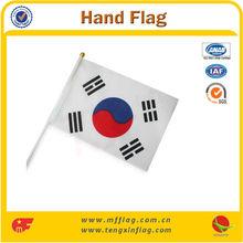 2014 Best Selling Polyester Korea Hand Flag