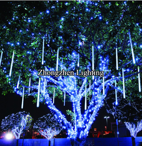 outdoor waterproof led meteor shower rain tube christmas