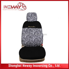 zebra design car seat cover with kintted cover fabric