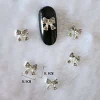 Wholesale Nail Art Jewelry Butterfly Charms Zircon Stone Decoration