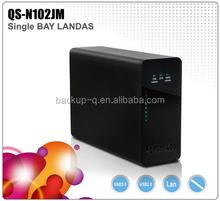 8tb single bay NAS HDD Enclosure/LAN HDD Enclosure/Easy to install hard disks hdd box