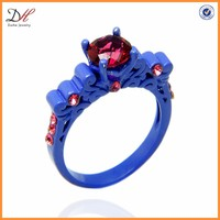 RN3017 Ruby Sapphire 10KT Blue Gold Filled Maxi Rings for Women