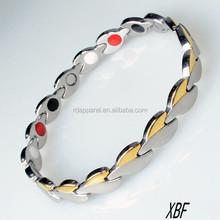 B017064 Hot New Products Stainless Steel Magnetic Bracelet health bracelet for men