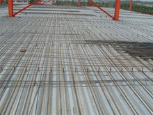 Decking sheet for second floor with stud bolt / steel bar / concrete