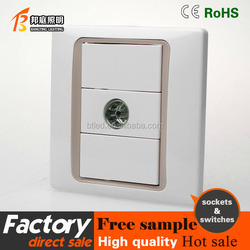 electric socket with CE certificate Euro type,TV satellite socket outlet