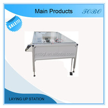 PV module lay-up station laying table to make solar panels