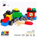 Grande de madera tren de juguete bloque Toddler Toy 2015 nuevo