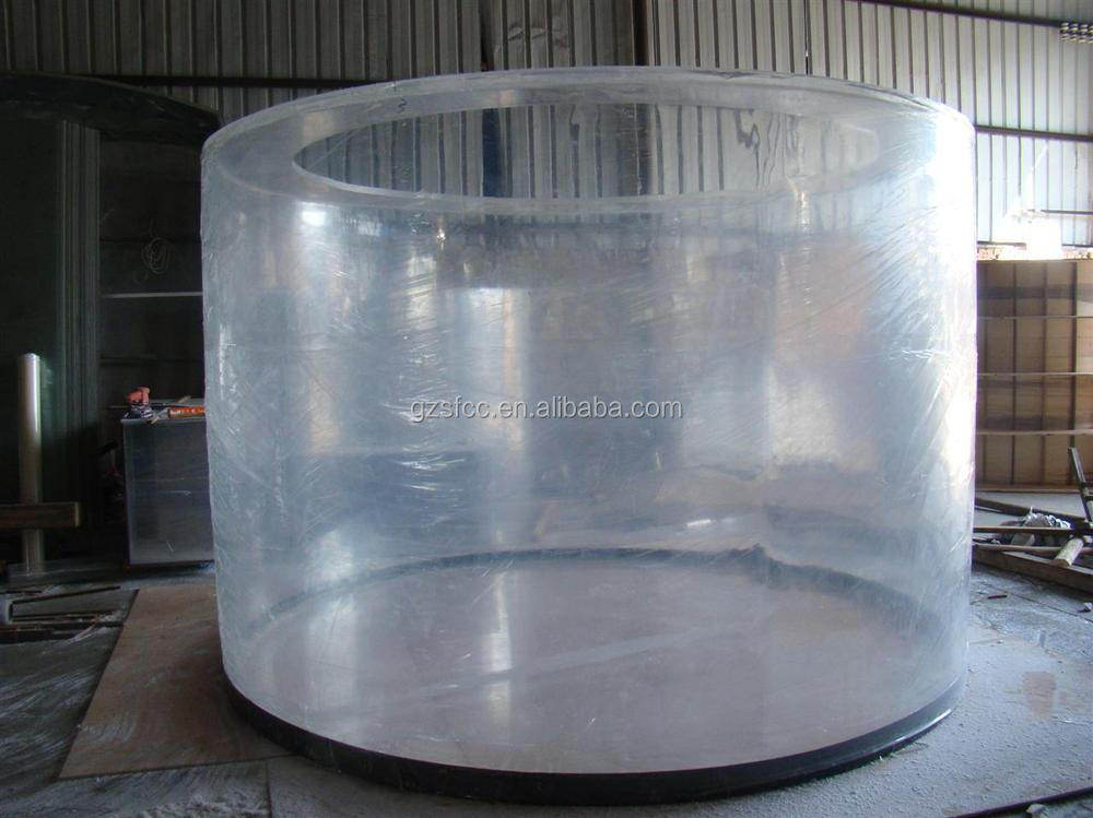 Mm thick large diameter acrylic tube view