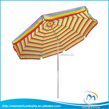 Customized Folding Beach Umbrella Striped Umbrella Chinese Parasol Umbrella with Tilt
