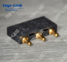 3 pin right angle spring pogo connectors for automotive battery