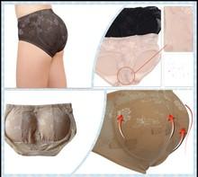 Sponge Buttock Pad Body Shaping Shorts Sexy Lingerie Women Panties Low Waist nude panties