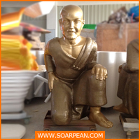 Fiberglass Kneeling Buddha Statue for sale