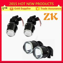 12v 24v halogen double light lens universal projector headlight