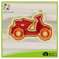custom design low price embroidery iron on biker patches by factory