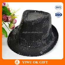 Yiwu Factory Party Accessories Black Sequin Hat
