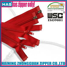red zipper #7 durable nylon zipper open end good painting zippers for sweaters