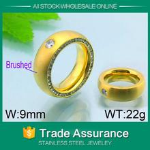 anillo de oro lleno 2015 de acero inoxidable al por mayor