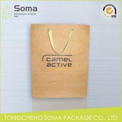 Top grade top sell top grade red metallic paper gift bag