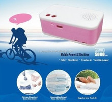 sterhen portable ozone generator air purifier DC5V 1000mA power bank with ozone and anion new purifier